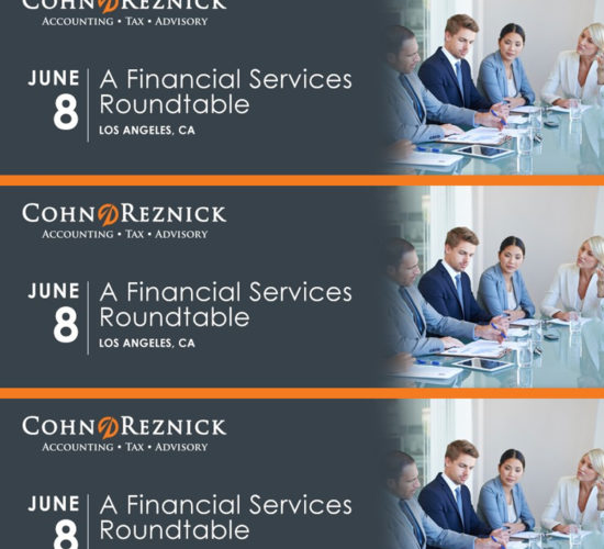 CohnReznick- Financial Services Roundtable